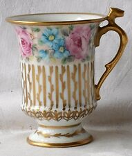 Early C20TH Limoges dipinto a mano e Dorato Armadietto Cup