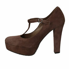 scarpe donna ALBANO 39 EU decolte marrone camoscio AD40-E