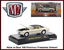 New M2 1/64 Diecast Car '68 Pontiac Firebird Sprint in Acrylic Display Case