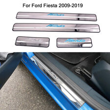 Stainless Door Sill Kick Scuff Plate Trim Protector Fit Ford Fiesta MK7 09-19