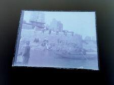 Antique glass negative photo plate SOCIAL HISTORY