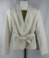 Banana Republic Womens Ladies Ivory Belted Short Suit Jacket Size 10 NEW