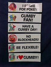 Vintage 1985 Gumby Bumper Stickers Wholesale case of 120