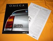 Opel Omega 3000 1990 Prospekt Brochure Depliant Catalogue Prospetto Catalog