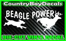 BEAGLE POWER Chase * Vinyl Decal Sticker * Hunting Buck Hound Dog Truck Car Deer