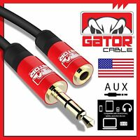 AUX 3.5mm Male to Female Cable Extension Stereo Audio Headphone Cord for Car 6FT