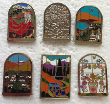 Disney Pin - DLR - 2014 Hidden Mickey Series DCA Tile Murals - Complete Set of 6