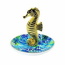"""Lilly Pulitzer NWT Ring Holder in Wade & Sea """"Sea Horse"""""""