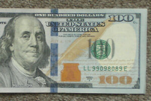 $100 2009A  FEDERAL RESERVE NOTE Fancy SERIAL NUMBER 9909 8089 Trinary