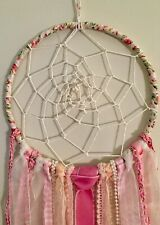 Shabby Chic Decorative Pink & White Dream Catcher