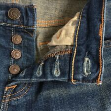 Abercrombie & Fitch Super Skinny Denim Blue Jeans Button Fly Closure 30 x 30