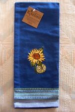 Sunflowers Wine Tea Towel Kay Dee Tuscan Sun Pattern