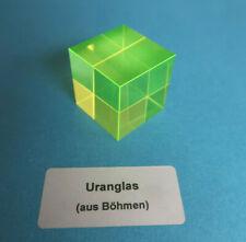 Uranglas Würfel, 27x27x27 mm, 50 Gr. - Prüfstrahler Geigerzähler, Uranium glass