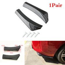 Carbon Fiber ABS Winglet Car Rear Bumper Lip Side Skirt Splitter Canard Diffuser