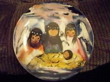 Knowles Collector Plate Fiesta Angels Indian Children Design