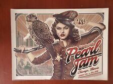 Pearl Jam Poster Wrigley Field Chicago 2018 Paul Jackson Eddie Vedder 8/18 8/20