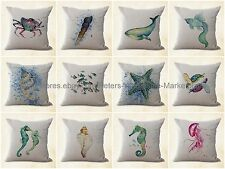 US SELLER- 10pcs bench cushion cover cushion covers turtle seahorse jellyfish