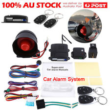 NEW Car Security System Alarm Keyless Central Locking + Shock Sensor+2 Remote AU