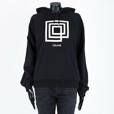 CELINE 960$ Classic Women's Black Sweatshirt In Labyrinthe Printed Fleece