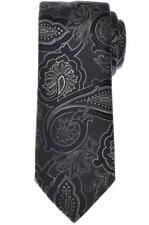 Brioni Tie Silk Gray Navy Blue Paisley 03TI0613 $230