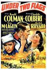 UNDER TWO FLAGS Movie POSTER 27x40 Ronald Colman Claudette Colbert Victor