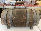 Original Antique Wood Civil War Naval Ambulance Water Whiskey Casket Keg Barrel