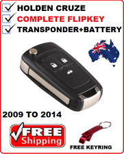 Holden Cruze Remote Flip key JG JH 2009 2010 2011 2012 2013 2014 Transponder key
