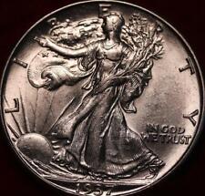 Uncirculated 1937-D Denver Mint Silver Walking Liberty Half