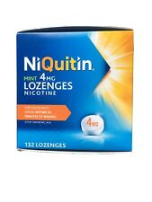 4 X NiQuitin Mint Lozenges- 4mg Pack of 132 Lozenges - stop smoking. Exp 05/21