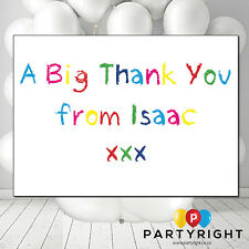 Personalised Thank You Cards • 10x Kids Coloured Crayons (TH2) • FREE ENVELOPES