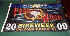 2009 68th Annual Bike Week Daytona Beach, FL Motorcycle Flag NEW Feel The Wind