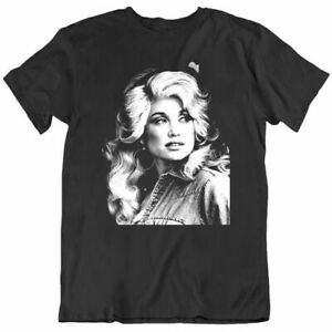 NEW Dolly Parton Single Beautiful Tee Men Black Cotton T-shirt Size S-4XL