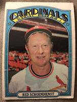 1972 Topps Red Schoendienst #67 St. Louis Cardinals Manager Low Grade