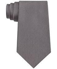 $125 CALVIN KLEIN Mens SILVER BLACK SKINNY SLIM DRESS NECK TIE SILK NECKTIE 59x3