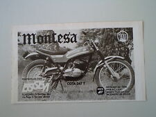 advertising Pubblicità 1975 MOTO MONTESA COTA 247 T TRIAL