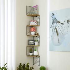 Love-KANKEI Corner Shelf Wall Mount Of 5 Tier Rustic Wood Floating Shelves Wall