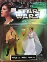 star wars action figures vintage Princess Leia, And Luke Skywalker 1997 Hasbro