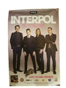 Interpol Poster Tour Band Shot French Concert