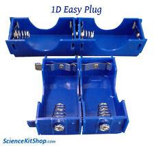 D Cell Battery Holder, Linkable, Easy Plug (Pack of 4 Holders)