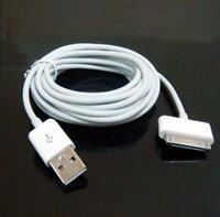 10ft USB Data Sync Charge Cable Adapter for Apple iPad 2 iPhone 4 4S 3GS iPod WT
