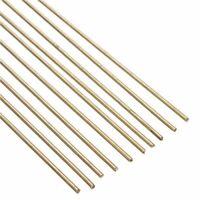 10-80x 1.6x250mm Gold Brass Rod Bar Solid Stick Repair Welding Brazing Soldering