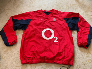 England Rugby Player Issue Contact Waterproof Training Top Size Large