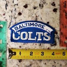Indianapolis Baltimore Colts Football Franchise 1970s Vintage Patch Emblem Logo