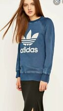 ADIDAS Original blue french terry Women's Sweater Crew Sweat blue size small