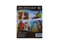 50 Sheets Of 7 x 5 Gloss Photo Paper For Inkjet Printers 160gsm