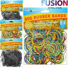 RUBBER BANDS STRONG ELASTIC OFFICE STATIONERY HOME POST HOME SCHOOL NATURAL 80G