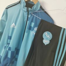 Real Madrid FC Small Mens Blue Adidas Football Training Tracksuit