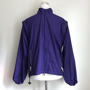 Canari Convertible Cycling Jacket Vest Purple Biovent Zip Sleeves Mens Size S