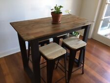Kitchen Island Bench Breakfast Bar - HARDWOOD - SOLID TIMBER - BRAND NEW