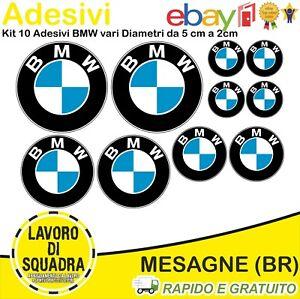 Kit 10 Adesivi Bmw Motorrad Auto moto GS R Serie 1 2 3 4 5 6 7 Car Adesivo Italy